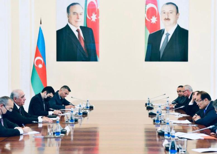 Prime Minister of the Republic of Azerbaijan received the Secretary General and Economy Ministers of the Turkic Council