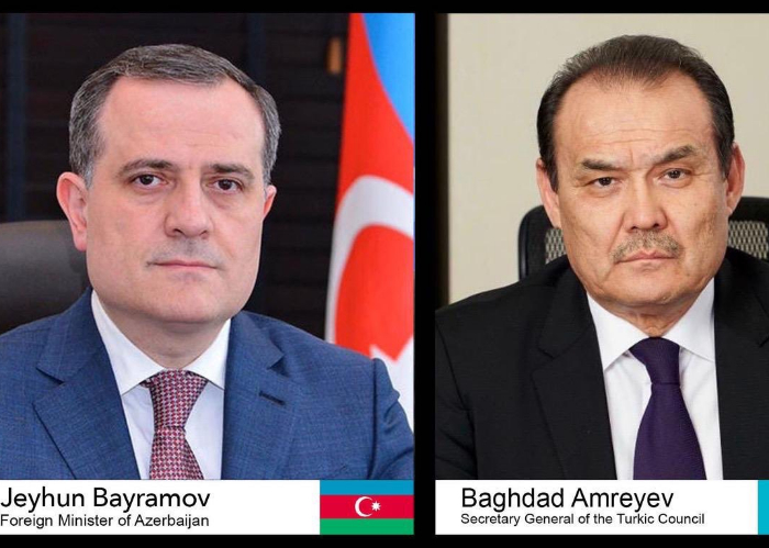 Telephone conversation of Foreign Minister of Azerbaijan and the Secretary General of Turkic Council