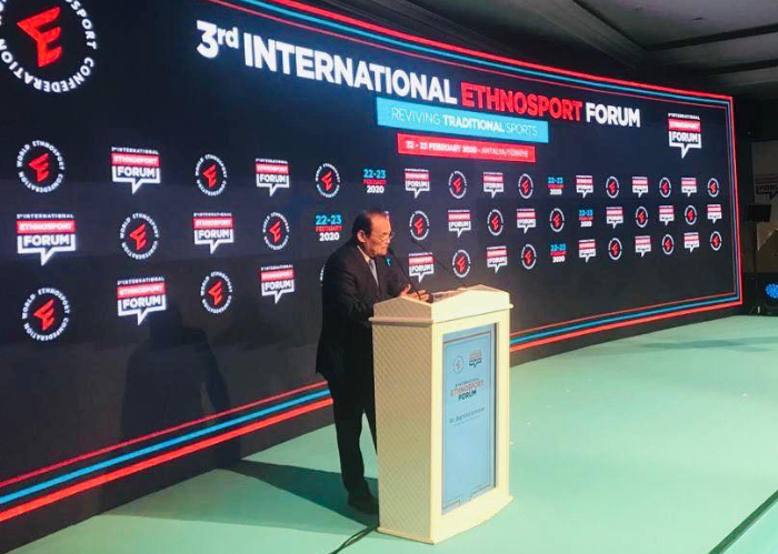 Secretary General of the Turkic Council, Baghdad Amreyev participated in the 3rd International Ethnosport Forum held on 22-23 February 2020 in Antalya, Turkey.
