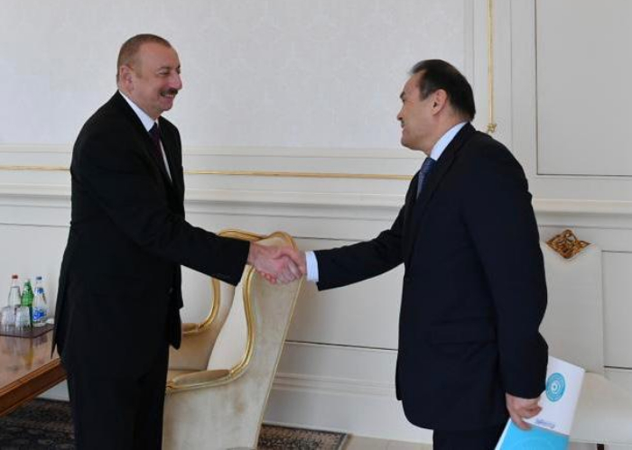 Secretary General of the Turkic Council Baghdad Amreyev was received by H.E. Ilham Aliyev, President of the Republic of Azerbaijan in Baku.