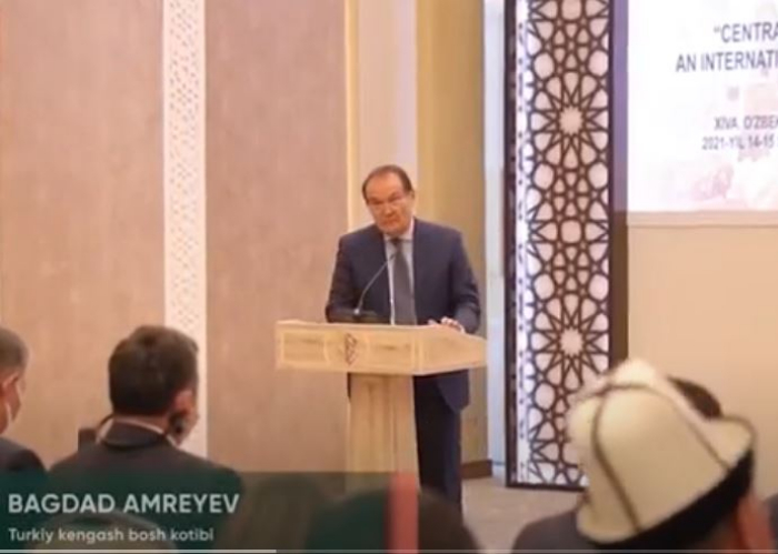 Video footage of the speech of Secretary General at the Conference held in Hiva