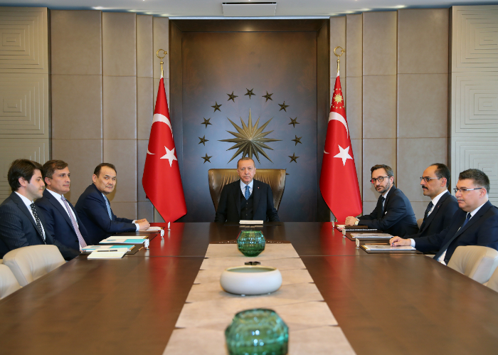 H.E. Recep Tayyip Erdoğan, President of the Republic of Turkey received the Secretary General of the Turkic Council, Baghdad Amreyev