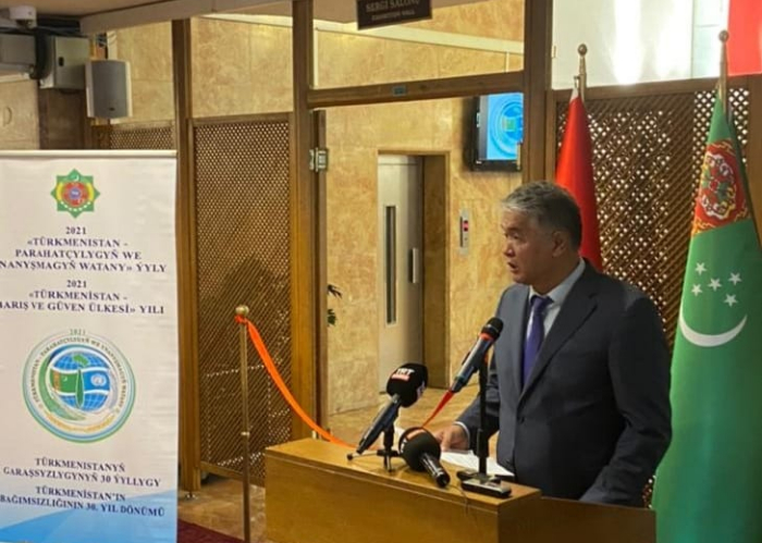 """""""Turkmenistan culture, art and photography exhibition"""" opened at the National Library in Ankara."""