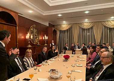 Dr. Taleh Ziyadov, Director-General of Baku International Sea Trade Port gave a lecture to the Participants of the Turkic Council's 6th Junior Diplomats Joint Training Program.