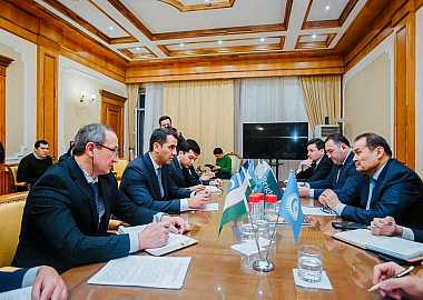 Secretary General held various official meetings in Uzbekistan