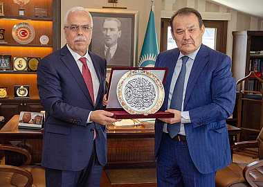 Prof. Dr. Halit Eren, Director General of Research Center for Islamic History, Arts and Culture (IRCICA) of the Organization of the Islamic Cooperation (OIC) made a courtesy visit to Baghdad Amreyev Secretary General of the Turkic Council.