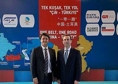 "Turkic Council delegation attended to the welcoming ceremony of  ""One Belt and One Road"" China-Turkey Train on 6 November 2019 in Ankara."