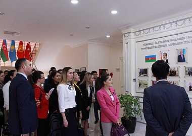 Participants of the Turkic Council Junior Diplomats 6th Joint Training Program visited TURKPA and Heydar Aliyev Center.