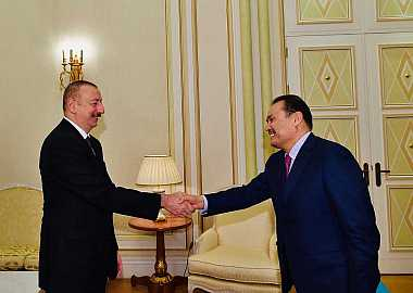 H.E. Ilham Aliyev, President of the Republic of Azerbaijan received the Secretary General of the Turkic Council Baghdad Amreyev