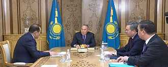Reception of the Secretary General of the Turkic Council by Elbasy H.E. Nursultan Nazarbayev